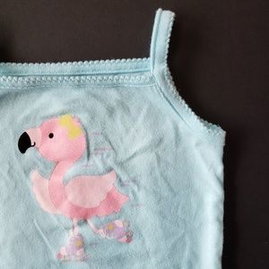 Baby Girls Flamingo Tank Top Onesie